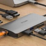 Adaptador D-Link USB-C 8 em 1 DUB-M810 Cinzento 4