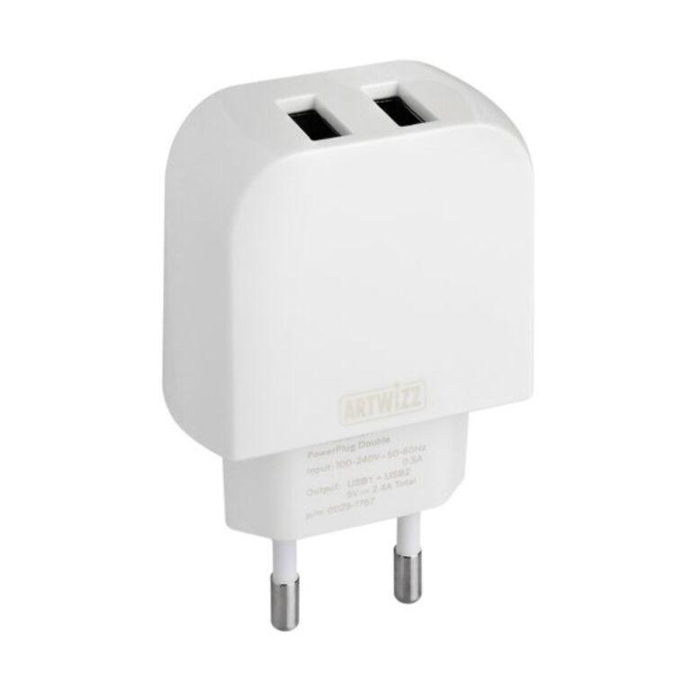 Carregador Artwizz Powerplug Double Branco