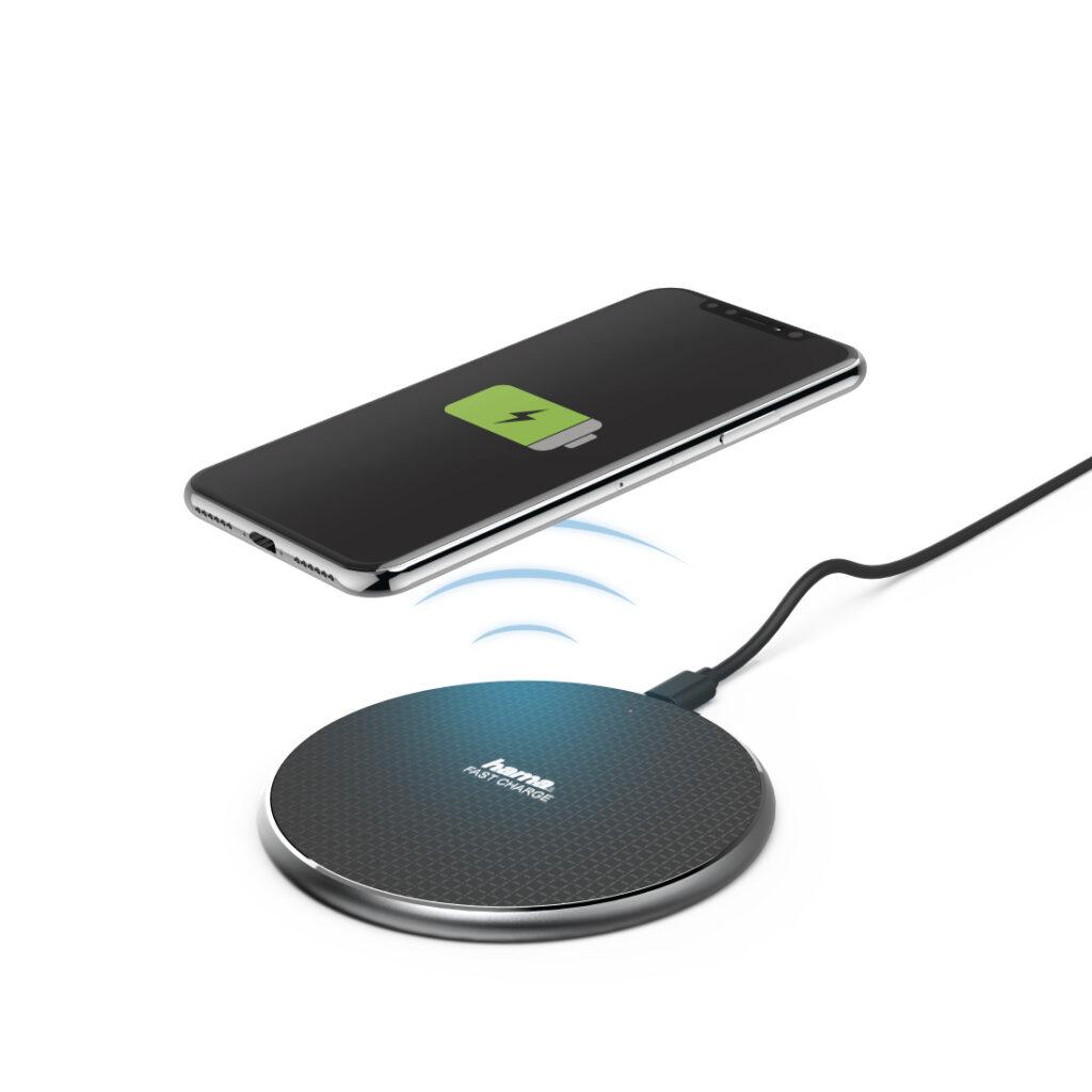 Carregador Wireless Hama Qi-FC10 Preto