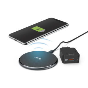 Carregador Wireless Hama Qi-FC10-Set Preto