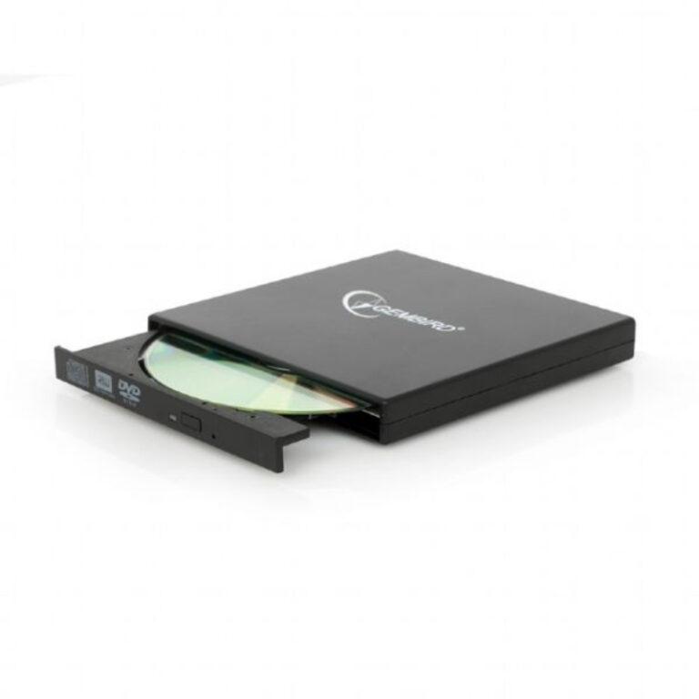 Gravador DVD Externo USB Gembird DVD-RW Slim Preto