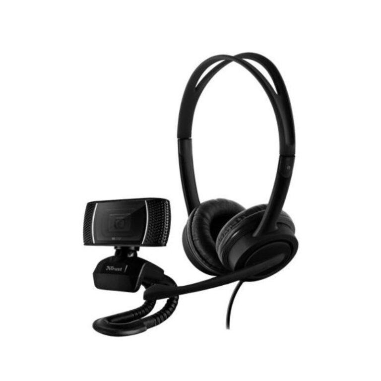 Kit Trust Webcam Trino HD + Headset Mauro USB Preto