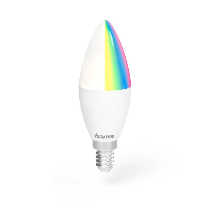 Lâmpada LED WiFi E14 5.5W RGB Hama