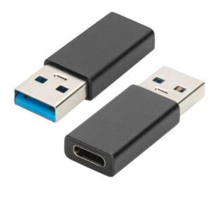 Adaptador USB-C p/ USB3.0 F/m Ewent Preto