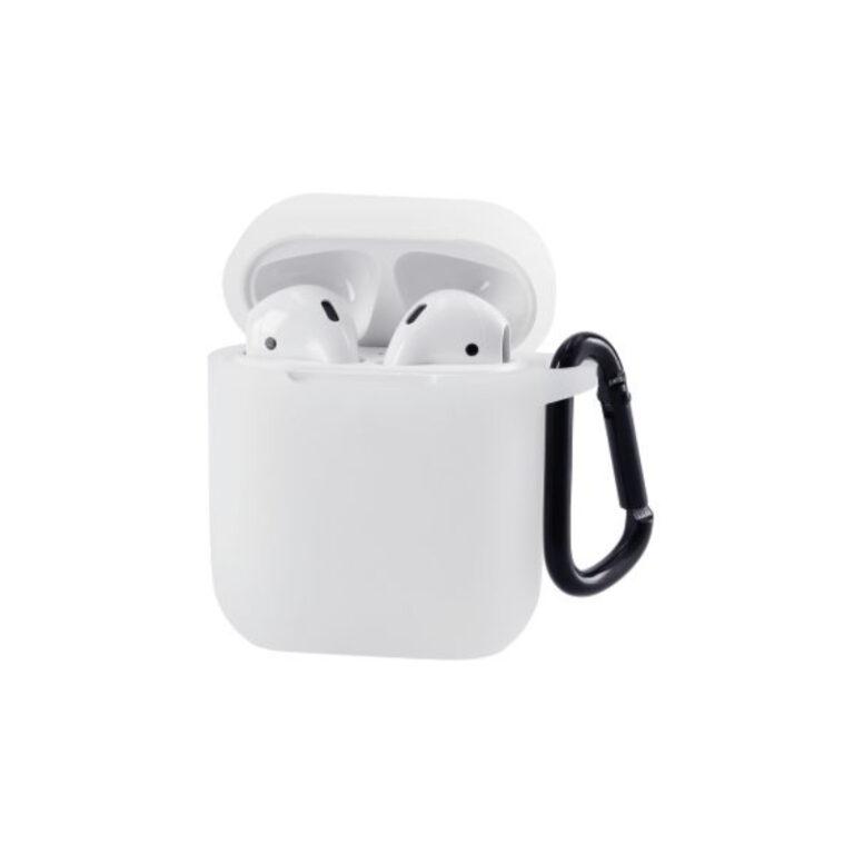Bolsa protetora em silicone Airpods Branco
