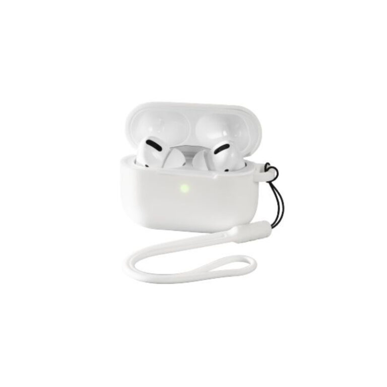 Bolsa protetora em silicone Airpods Pro Branco