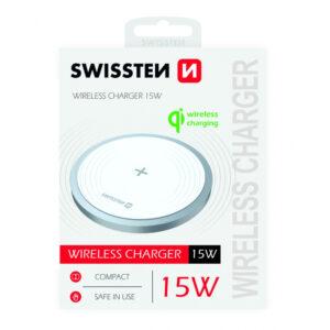 Carregador Swissten Wireless Qi 15W Branco