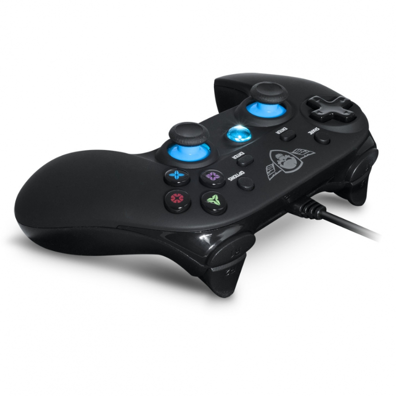 Comando Wired Gamepad Spirit of Gamer Azul/Preto