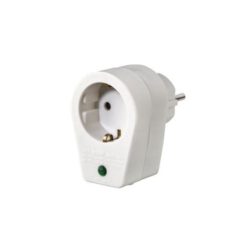 Tomada Hama Individual Shuck Com interruptor Branco