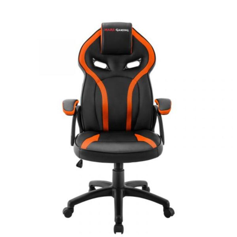 Cadeira Gaming Mars Gaming MGC118 Preto/Laranja