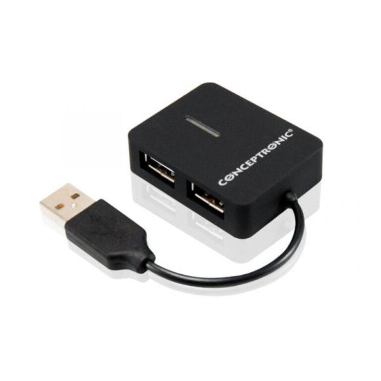 Hub USB2.0 4 Portas Conceptronic Compact