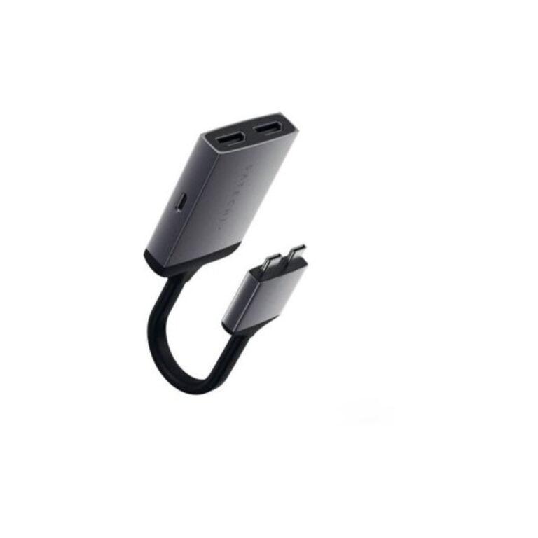 Adaptador SATECHI USB-C - HDMI 15cm Cinzento