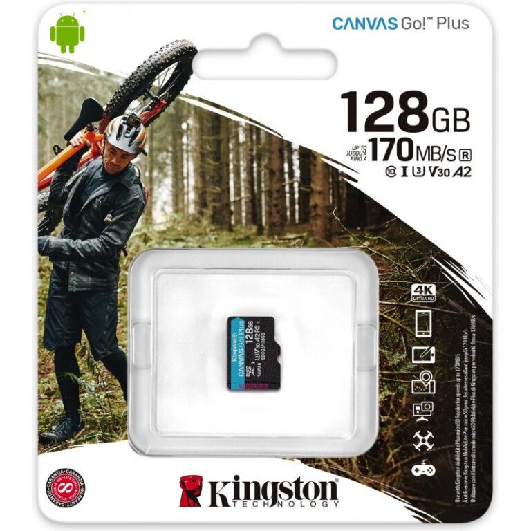 Cartão de memória Kingston Canvas Go Plus 128GB MicroSD