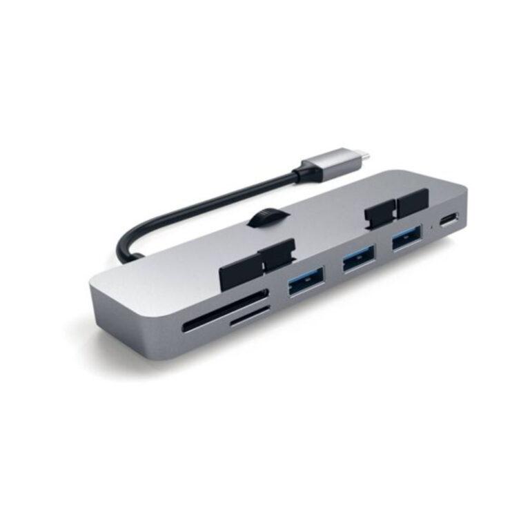Hub Satechi USB-C Aluminium Clamp Pro Cinzento