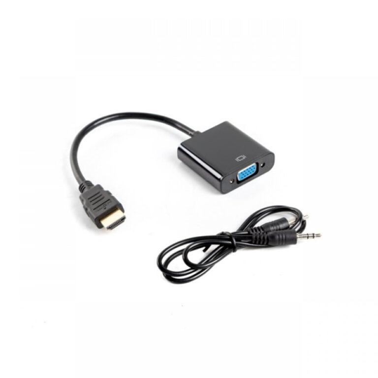 Adaptador Lanberg HDMI M para VGA + Jack 3.5 mm