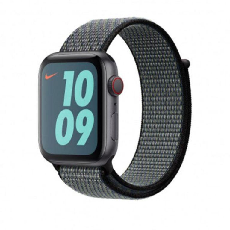 Bracelete Apple 44mm Lime Nike Sport Loop