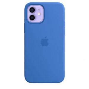 Capa iPhone 12 Pro Max MagSafe Silicone Azul