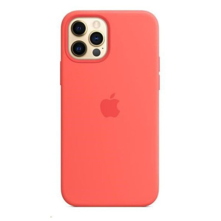 Capa iPhone 12 Pro Max MagSafe Silicone Rosa