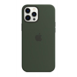 Capa iPhone 12 Pro Max MagSafe Silicone Verde