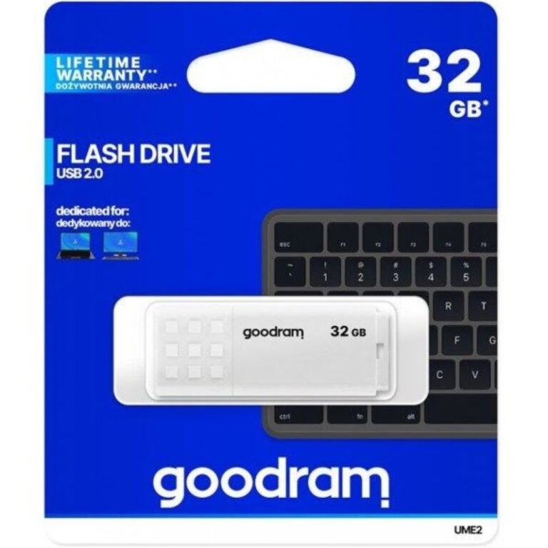 Pen Drive Goodram 32GB UME2 Branco USB 2.0