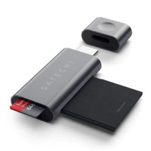 Leitor de Cartões Micro/SD Satechi Type-C - Cinzento