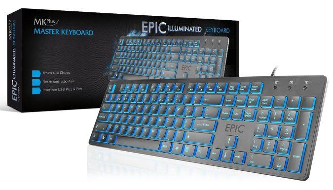 Teclado MKPLUS TG8120 EPIC Illuminated