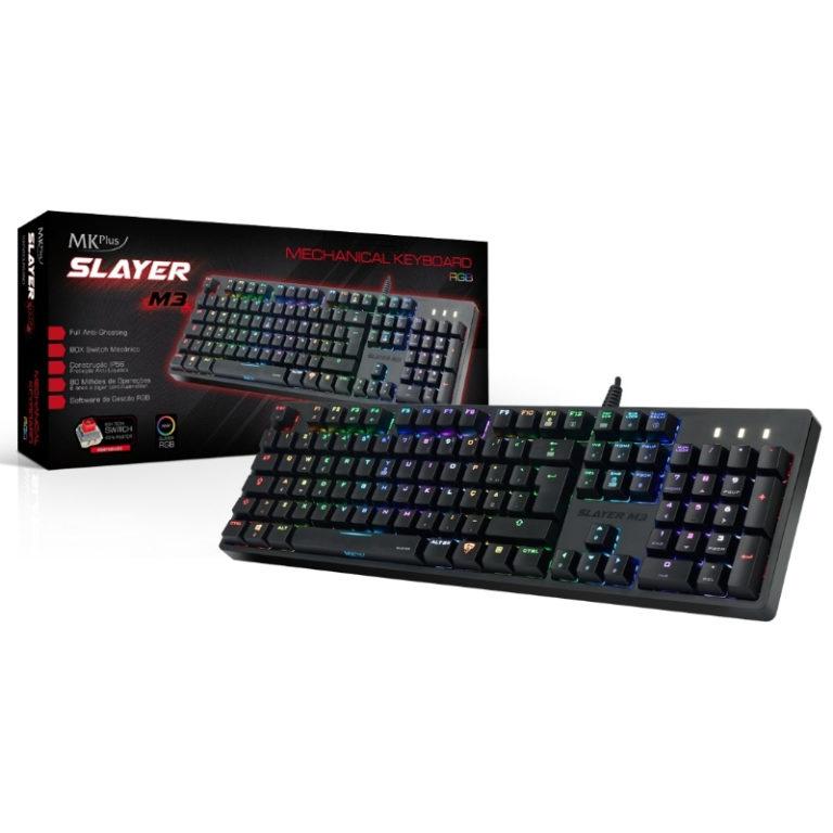 Teclado MKPlus Slayer M3 RGB Mecânico Iluminado