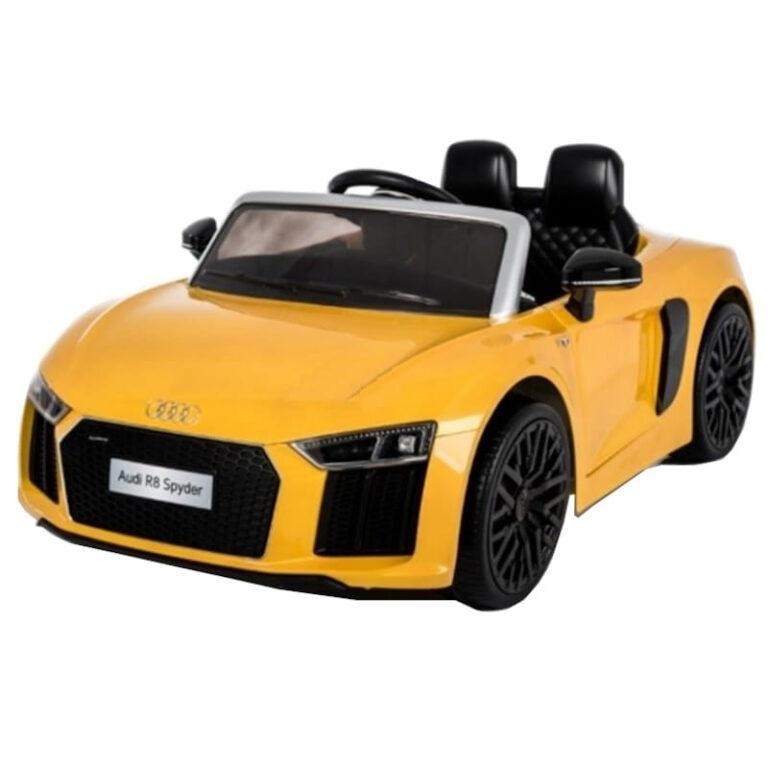 Carro Telecomando para Crianças Audi R8 - Amarelo