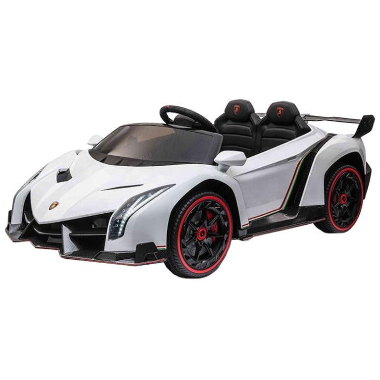 Carro Telecomando para Crianças Lamborghini Veneno - Branco