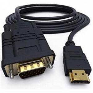 Cabo Adaptador Ntech Cabo Conversor HDMI-A(M) para VGA(M) 1.8M - Preto