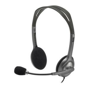 Headset Logitech H111 Stereo - Cinza