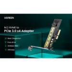 Adaptador UGREEN CM302 M.2 NVME para PCle 3.0