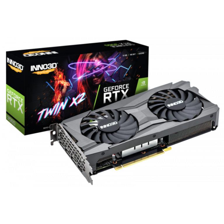 Placa Gráfica INNO3D GeForce RTX 3060 TWIN X2 12GB GDDR6