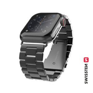 Bracelete Swissten Metal para Apple Watch 42-44mm Preto