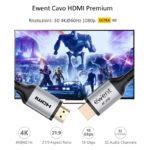 Cabo HDMI Ewent HQ Premium com Ethernet 1.8m
