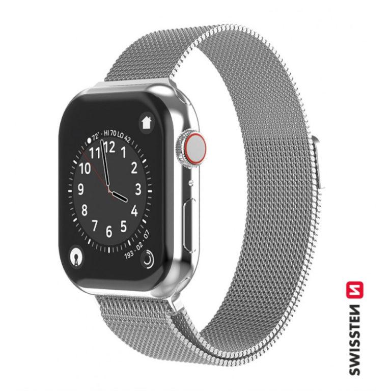Bracelete Swissten Mesh para Apple Watch 42-44mm Prata