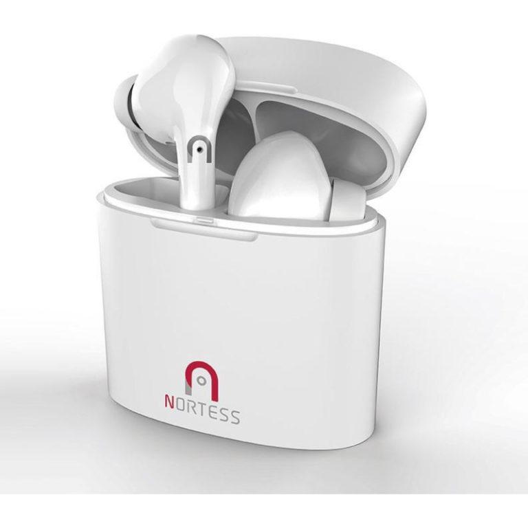 Auriculares Bluetooth Nortess NTEARBUDS50 Branco