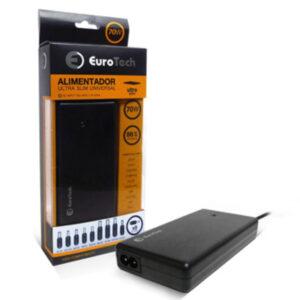 Carregador Portátil Universal Eurotech 70W Ultra Slim